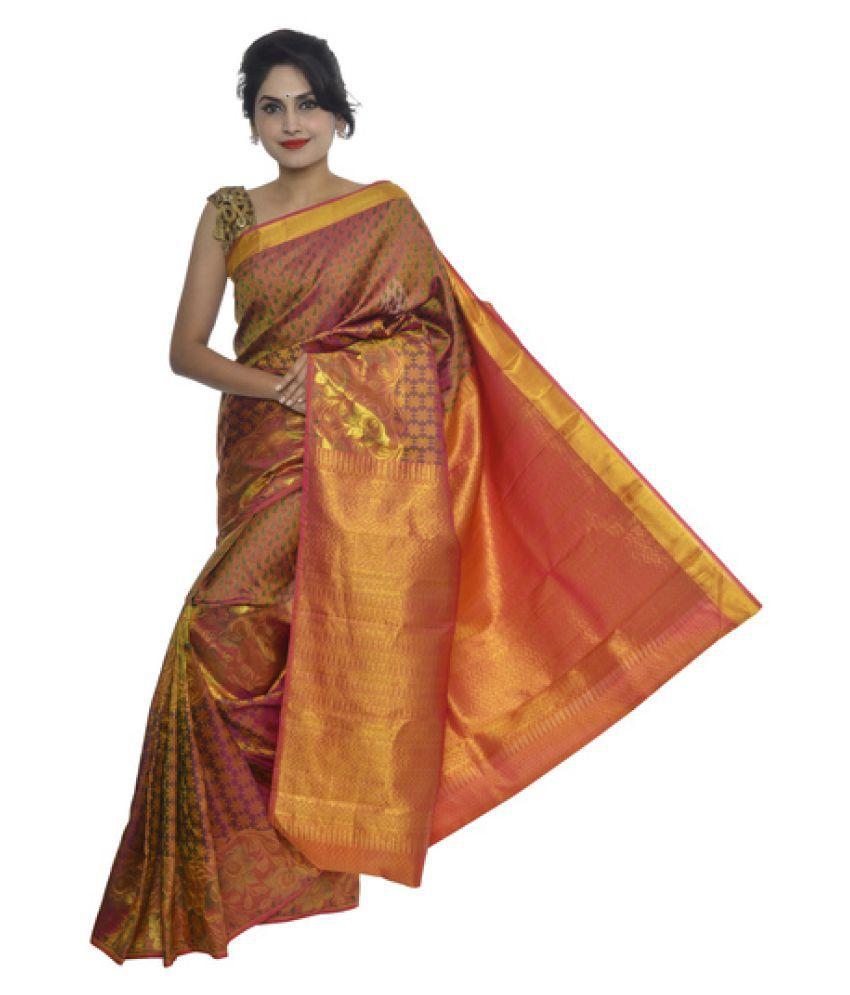 8bf59f1483c7f7 Vallalar Silks Brown and Maroon Kanchipuram Saree Vallalar Silks Brown and  Maroon Kanchipuram Saree ...