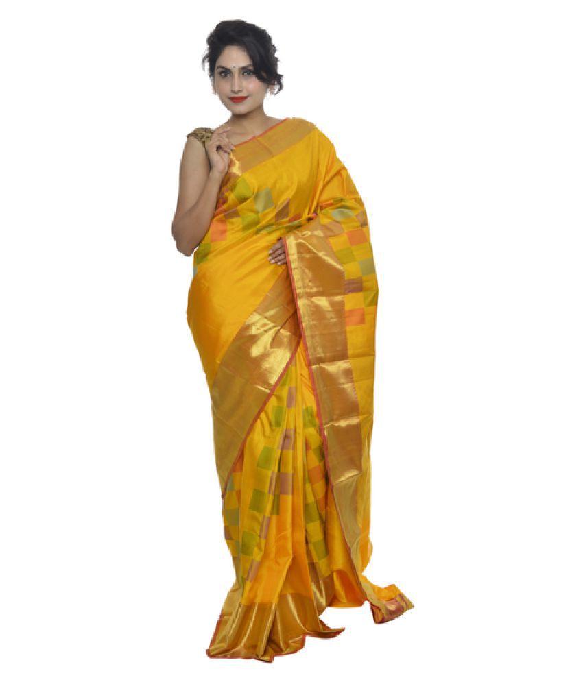 10d72424f35d8d Vallalar Silks Yellow Kanchipuram Saree Vallalar Silks Yellow Kanchipuram  Saree ...