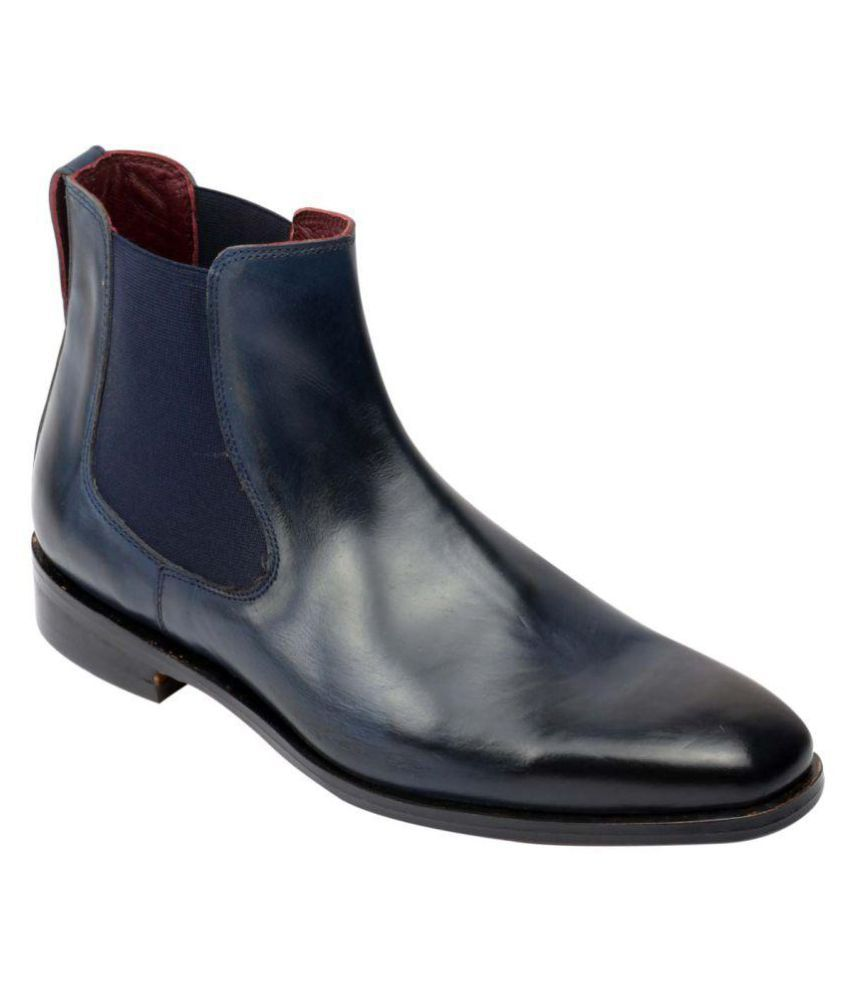Harrykson London Navy Chelsea boot