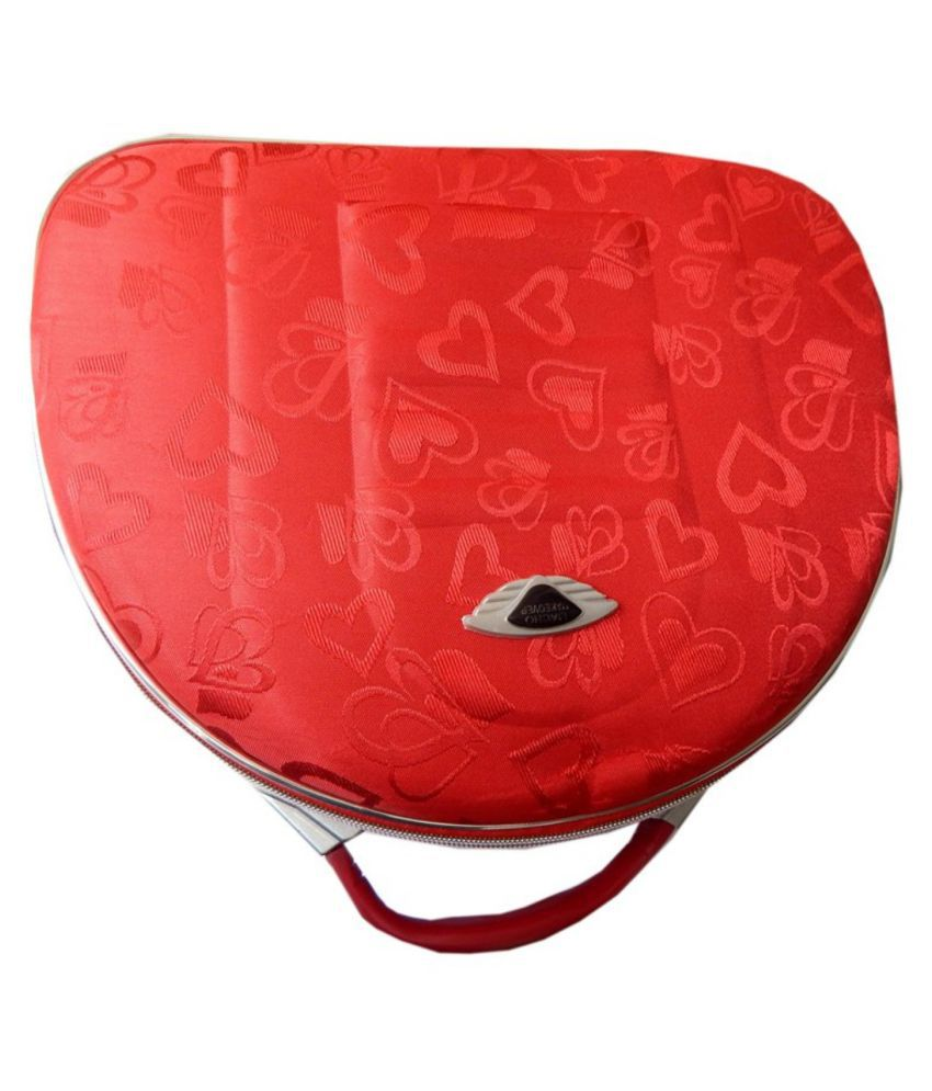 Navaksha Red  Makeup And Jewellery Vanity Case
