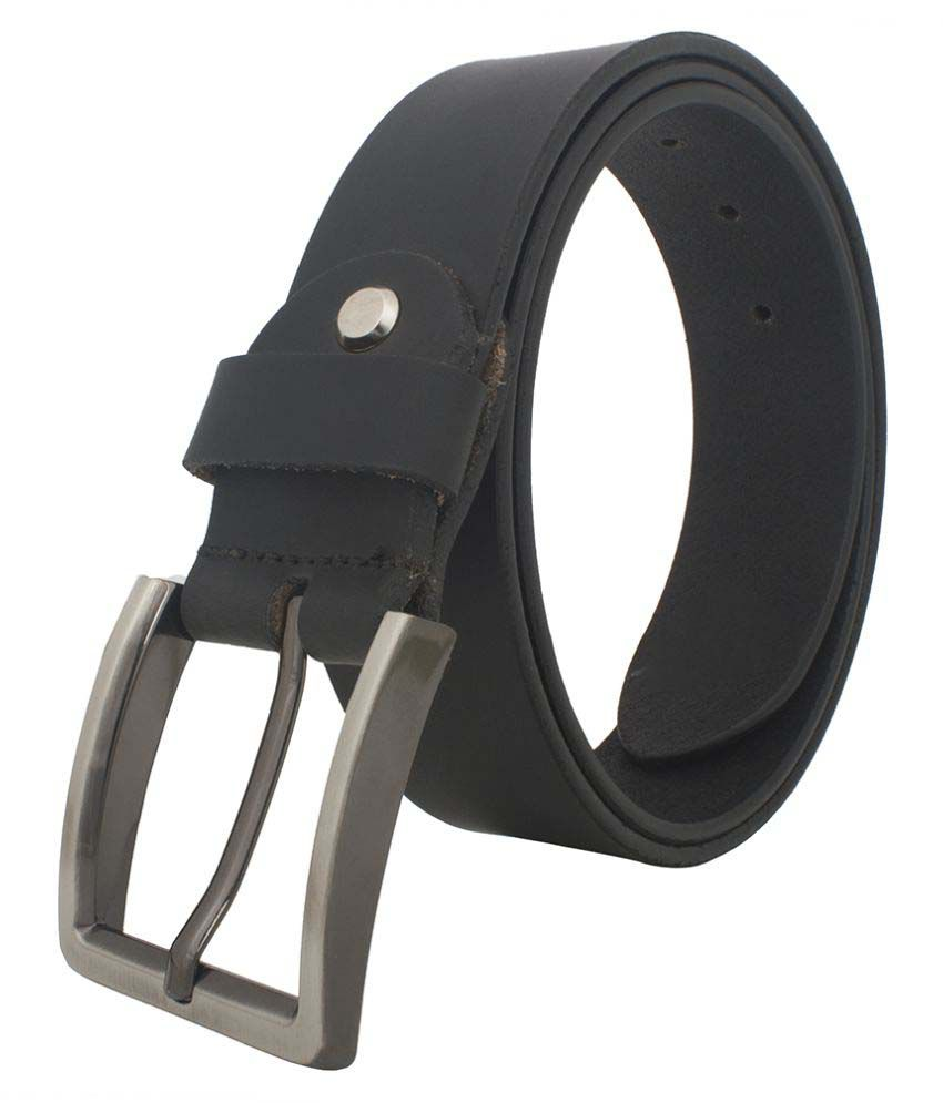 Chisel Black Leather Casual Belts