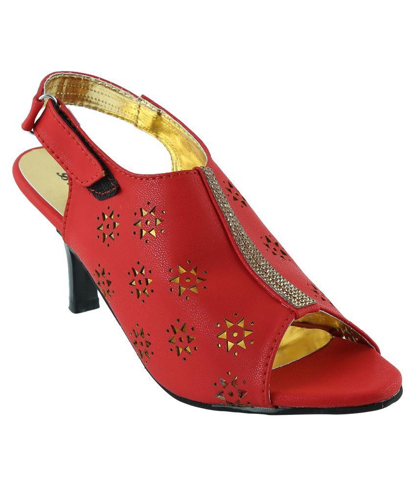 Style Buy Style Red Kitten Heels
