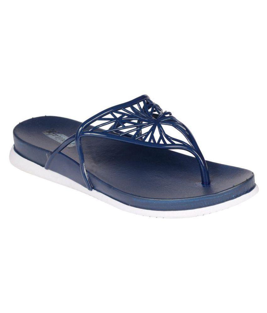 Femitaly Blue Slippers