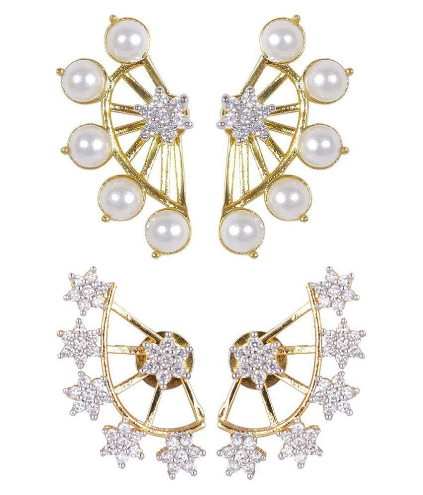 Shining Diva Golden Ear Cuffs - 2 Pair Pack