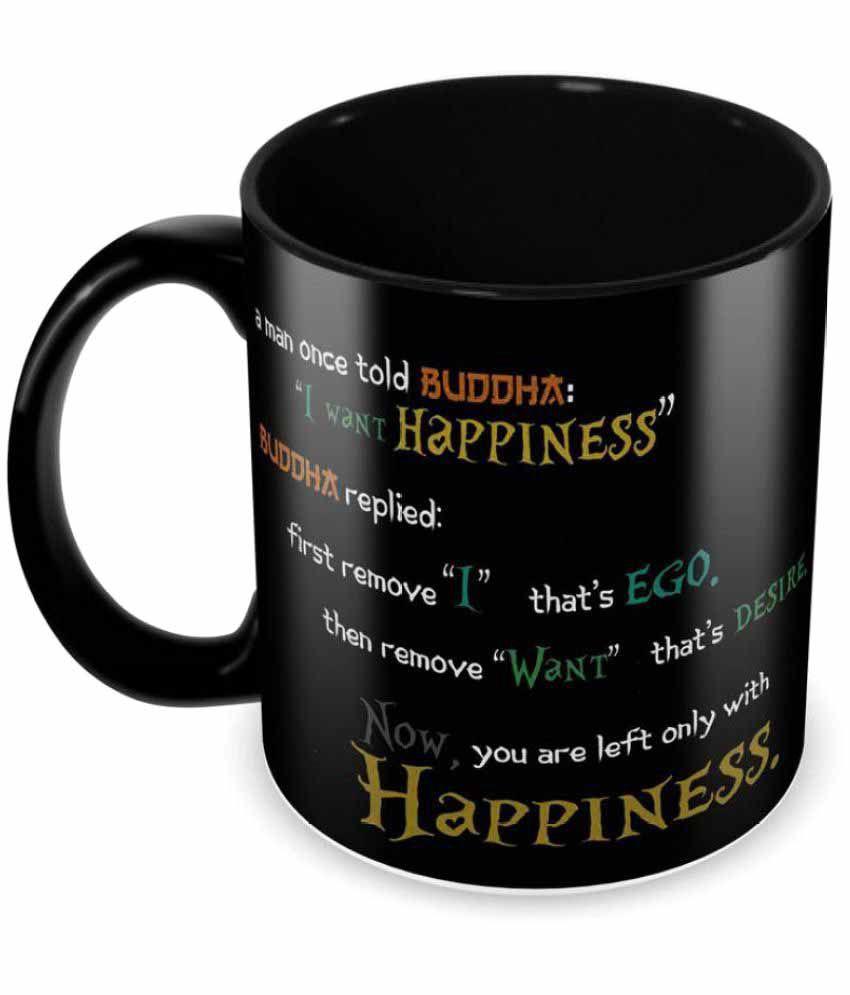 tuelip beautiful buddha thought printed full black for tea mug and rh snapdeal com