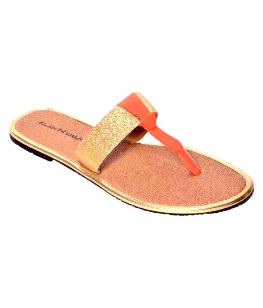 Style Feet Gold Flats