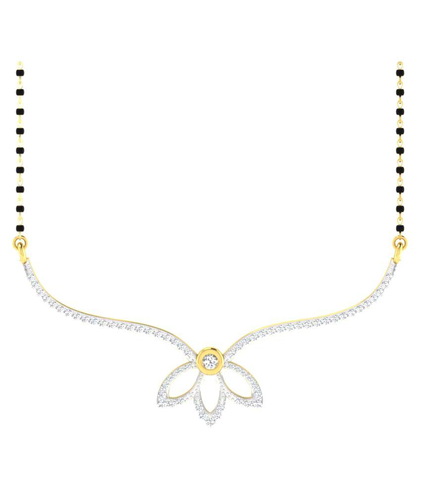 Sparkles 9K Yellow Gold Diamond Mangalsutra