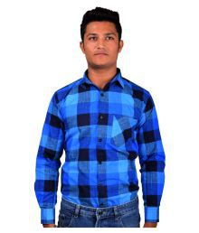Indian Karma Blue Casuals Slim Fit Shirt With Bow Tie
