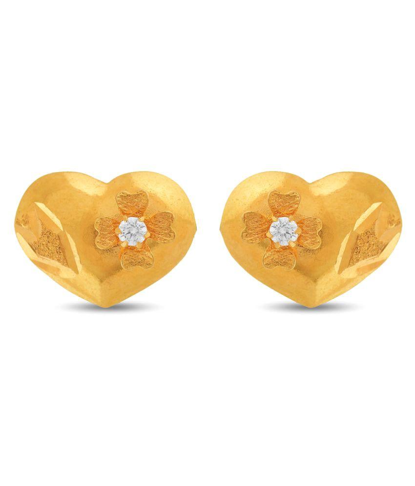 P.N.Gadgil Jewellers 22k Yellow Gold None Studs