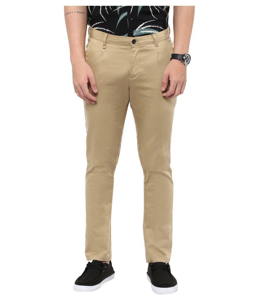 Monteil & Munero Beige Slim Flat Trouser
