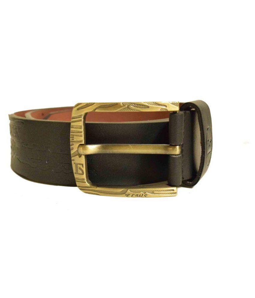 Jalad Black PU Casual Belts