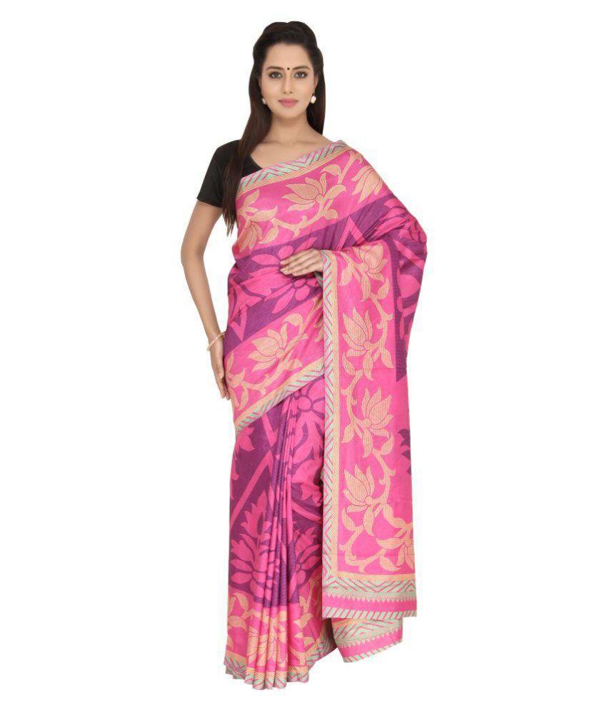 ccf6ec164b12b1 The Chennai Silks Pink Khadi Saree - Buy The Chennai Silks Pink Khadi Saree  Online at Low Price - Snapdeal.com