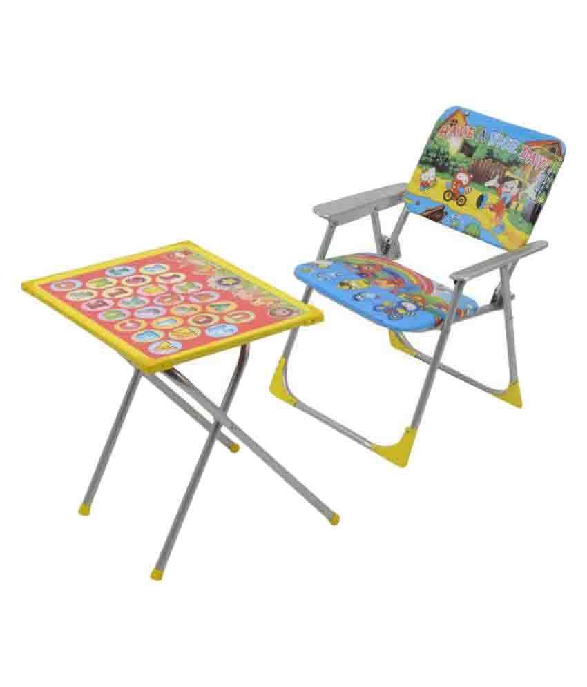 AM Enterprises Multi Non-Toxic Plastic Educational Table Chair Set