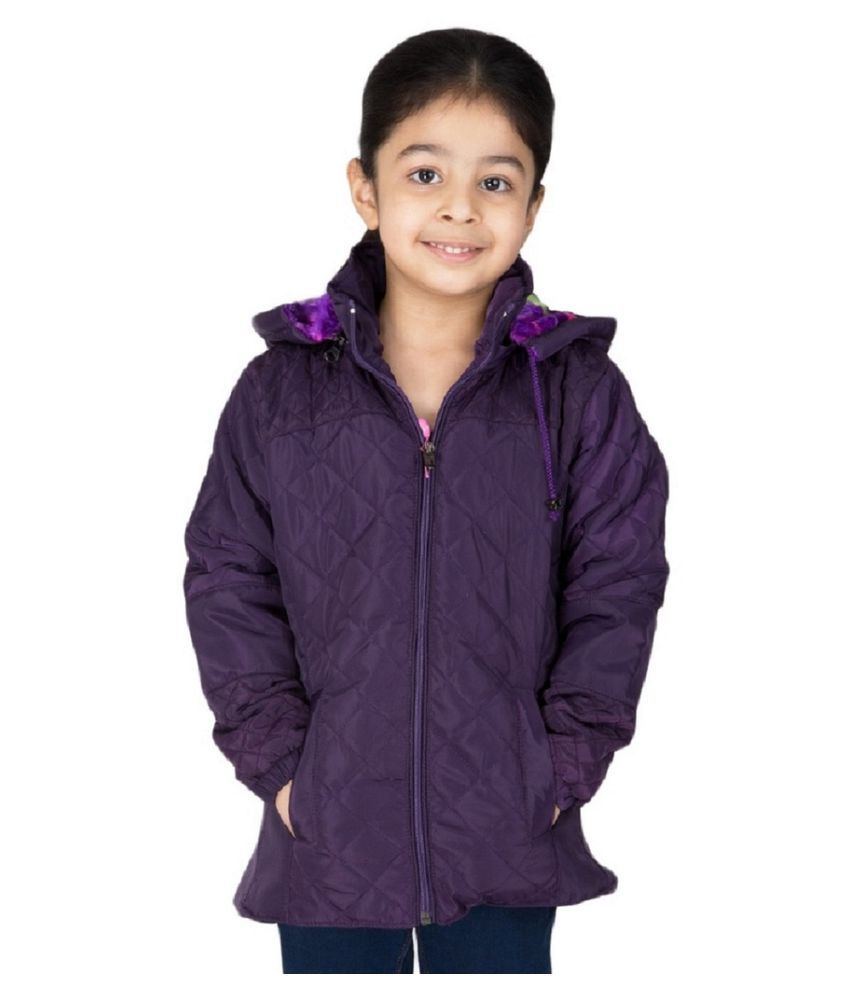 Burdy Purple Polyester Jacket