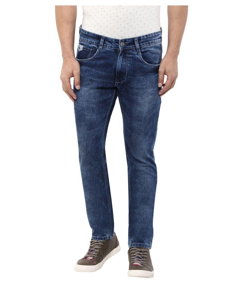 Monteil & Munero Blue Slim Solid Jeans