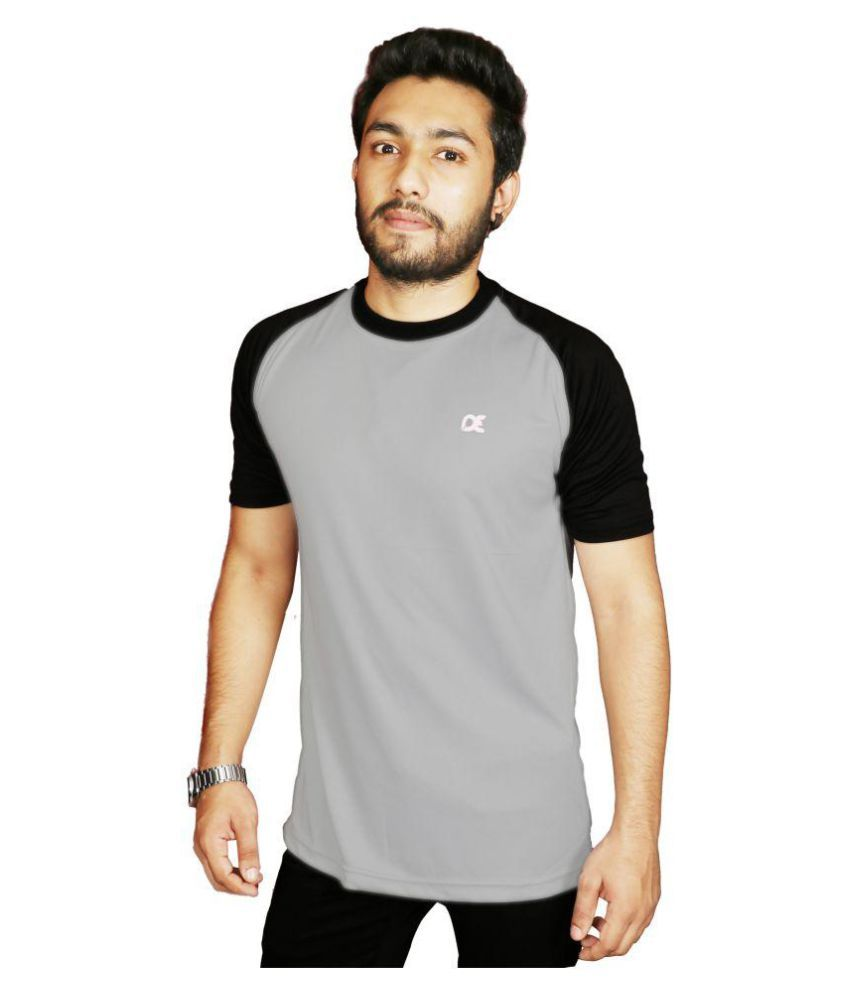 Dyed Colours Grey Round T-Shirt