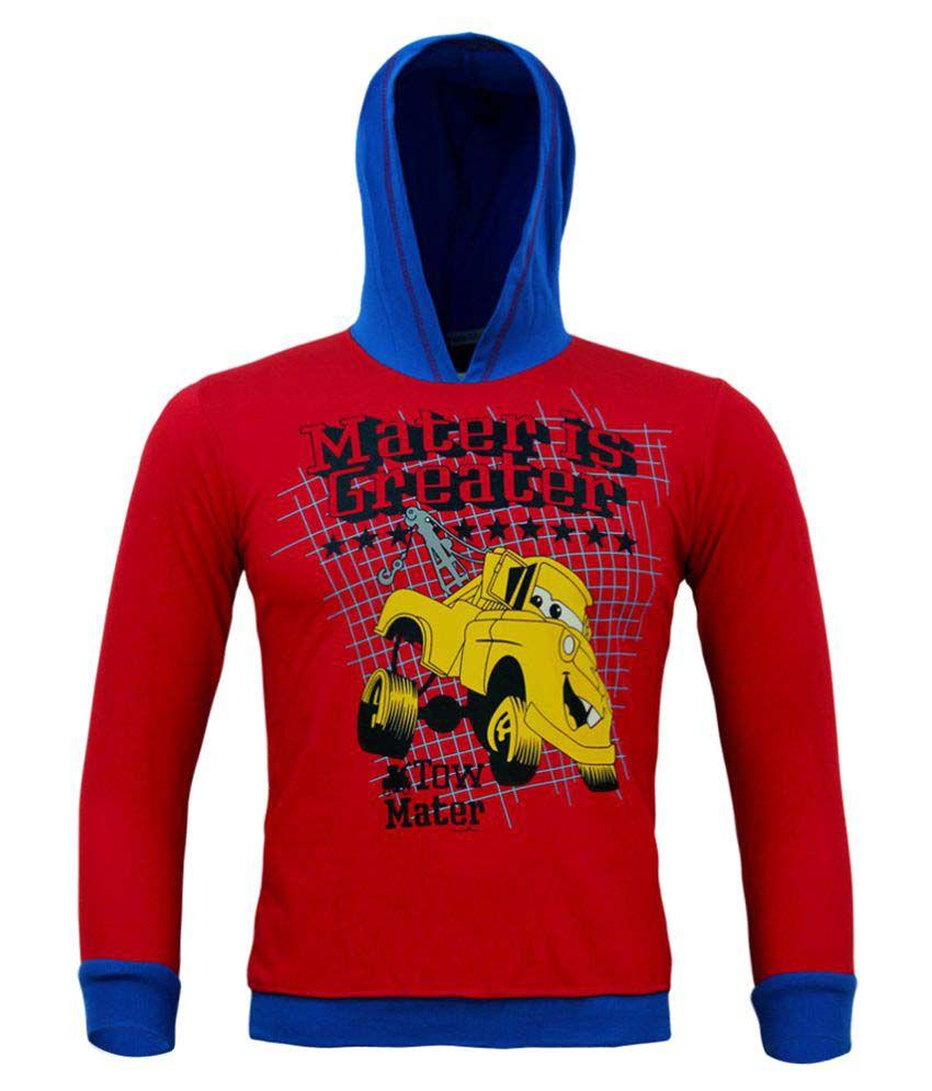Kothari Boys Maroon Hooded Sweatshirt Pack of 1
