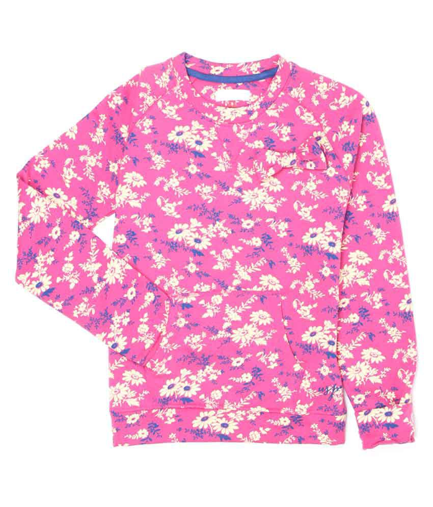 Uspa Multicolour Girl's Sweat Shirt