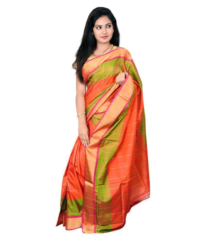 Raaga&Malia Multicoloured Uppada Silk Saree