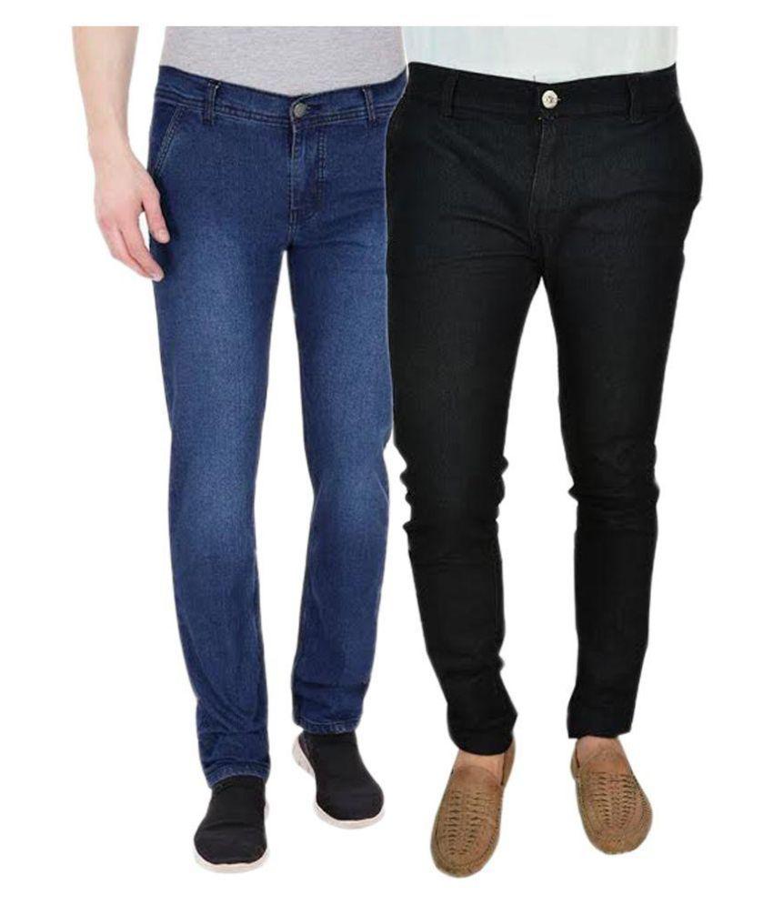 Westkon Multicolored Slim Solid Combo Jeans