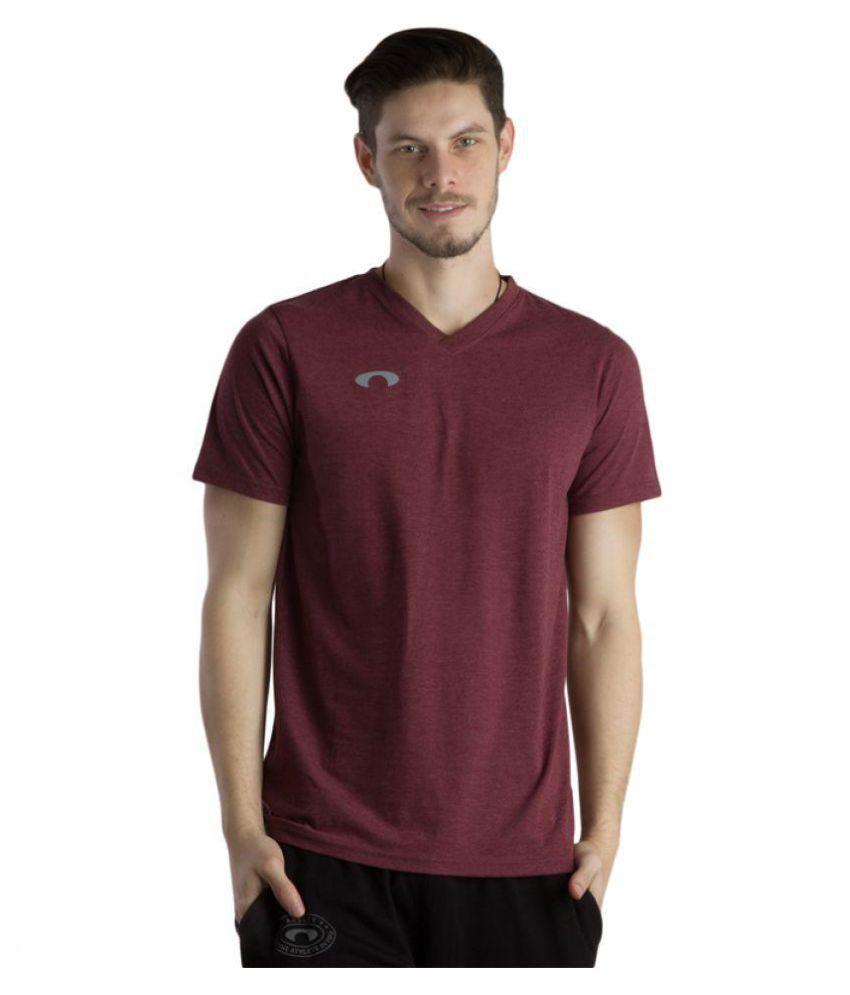 Arcley Maroon Cotton Blend T-Shirt Single Pack