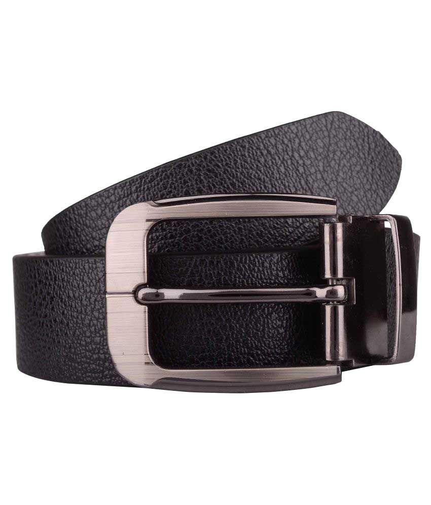 Exotique Black Leather Formal Belts