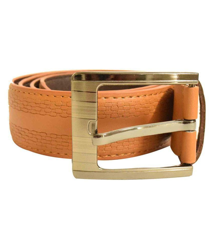 Jalad Tan PU Casual Belts