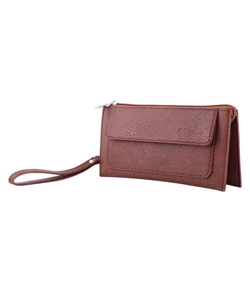 Whiteflower Brown Wallet