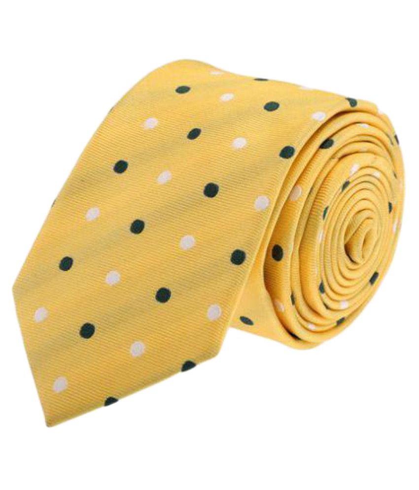 Tossido Yellow Formal Necktie