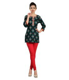 Cotton Culture Black Cotton Straight Kurti