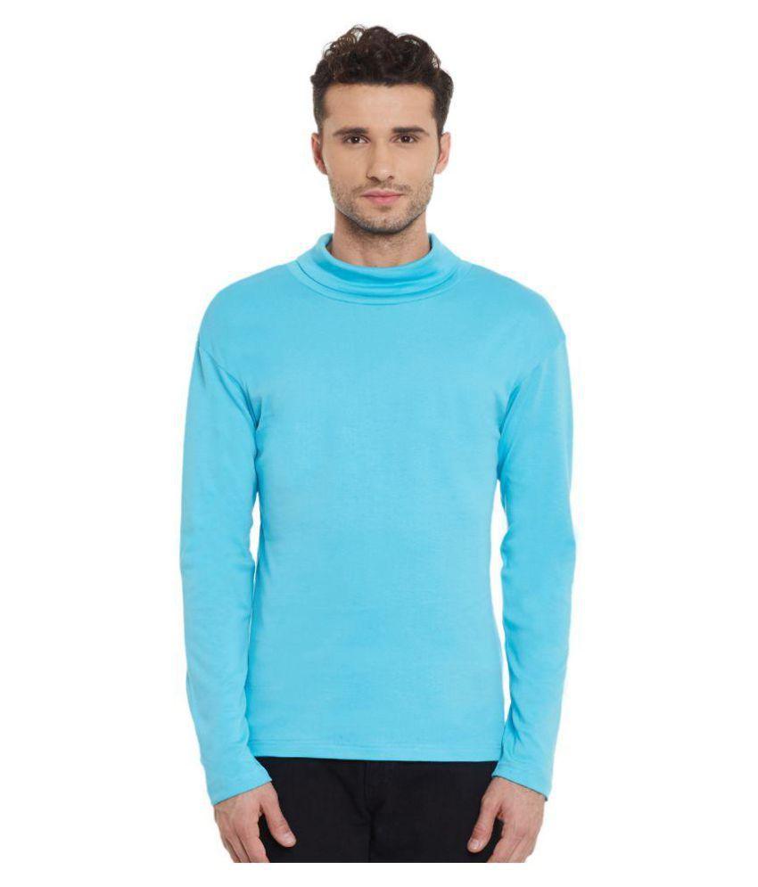 Hypernation Blue High Neck T-Shirt