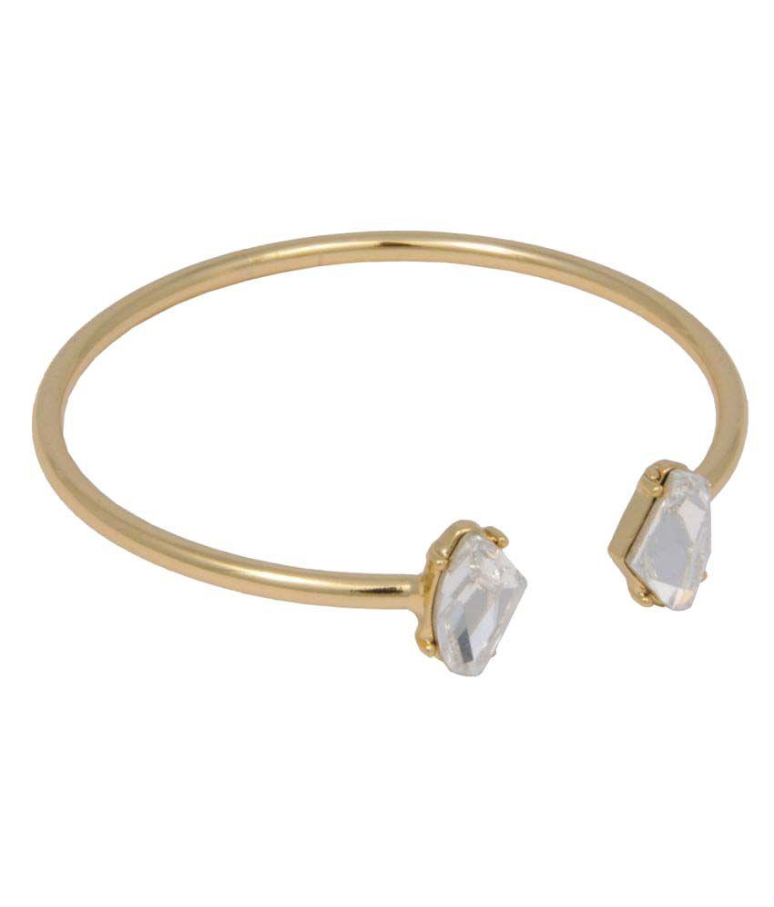 Trisha Jewels Golden Alloy Bracelet