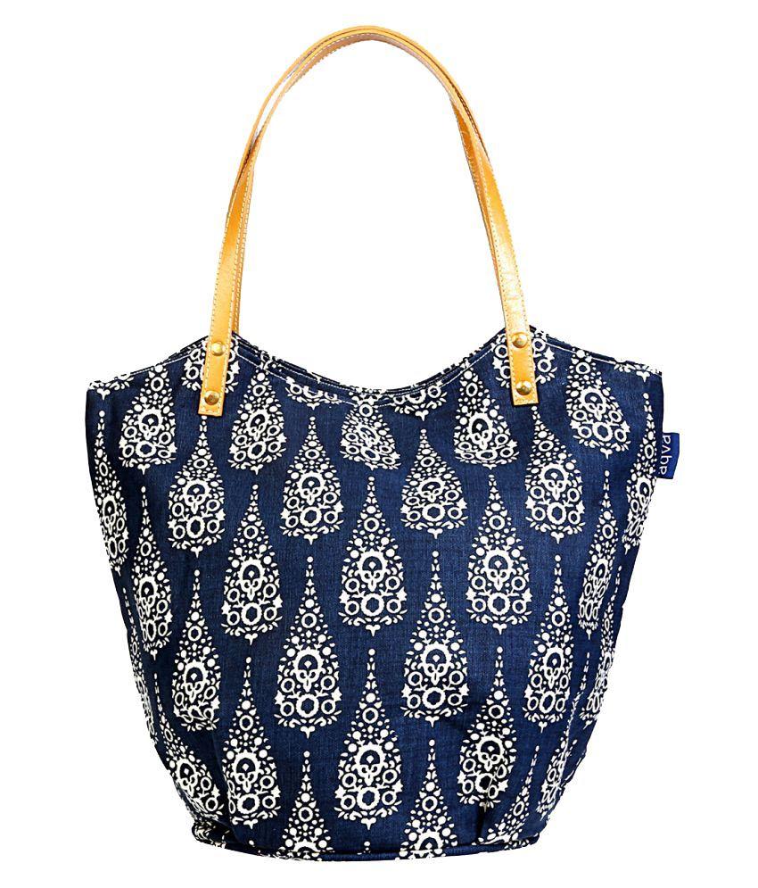 Aqva Blue Canvas Tote Bag