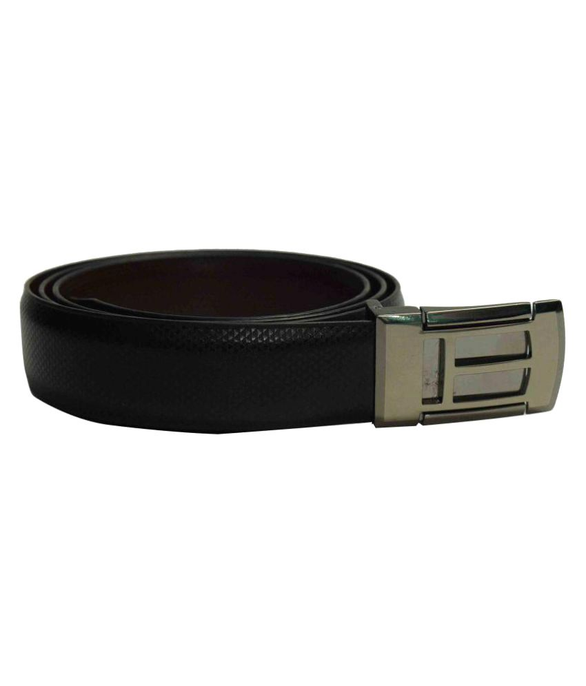 Jalad Black PU Formal Belts
