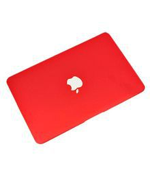 "Go Crazzy Matte Finish Laptop Skin MacBook Air 13"" 13-inch Case RED, Skin Case Cover For MacBook Air 13.3"" Shell Cover Case + Get Silicone Keyboard Cover +12pcs Dust Plug + Touchpad Protector Free"