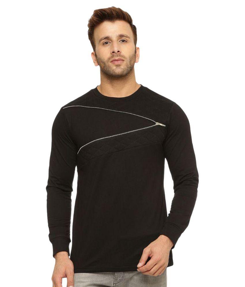 Gritstones Black Round T-Shirt