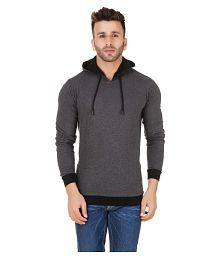 Fabstone Collection Grey Hooded T-Shirt for sale  Delivered anywhere in India