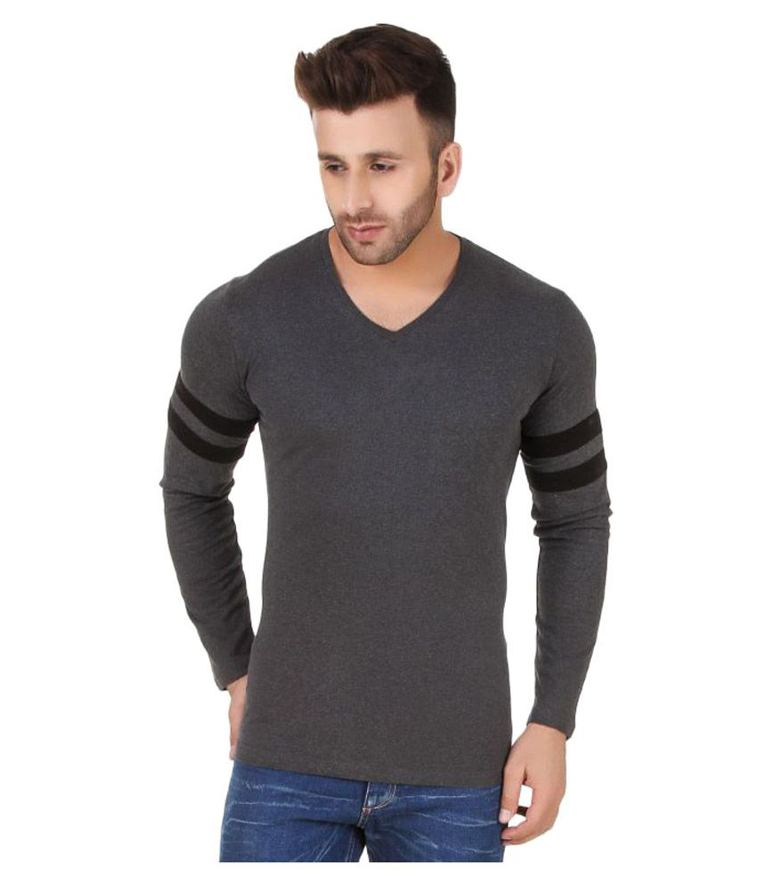Fabstone Collection Grey V-Neck T-Shirt
