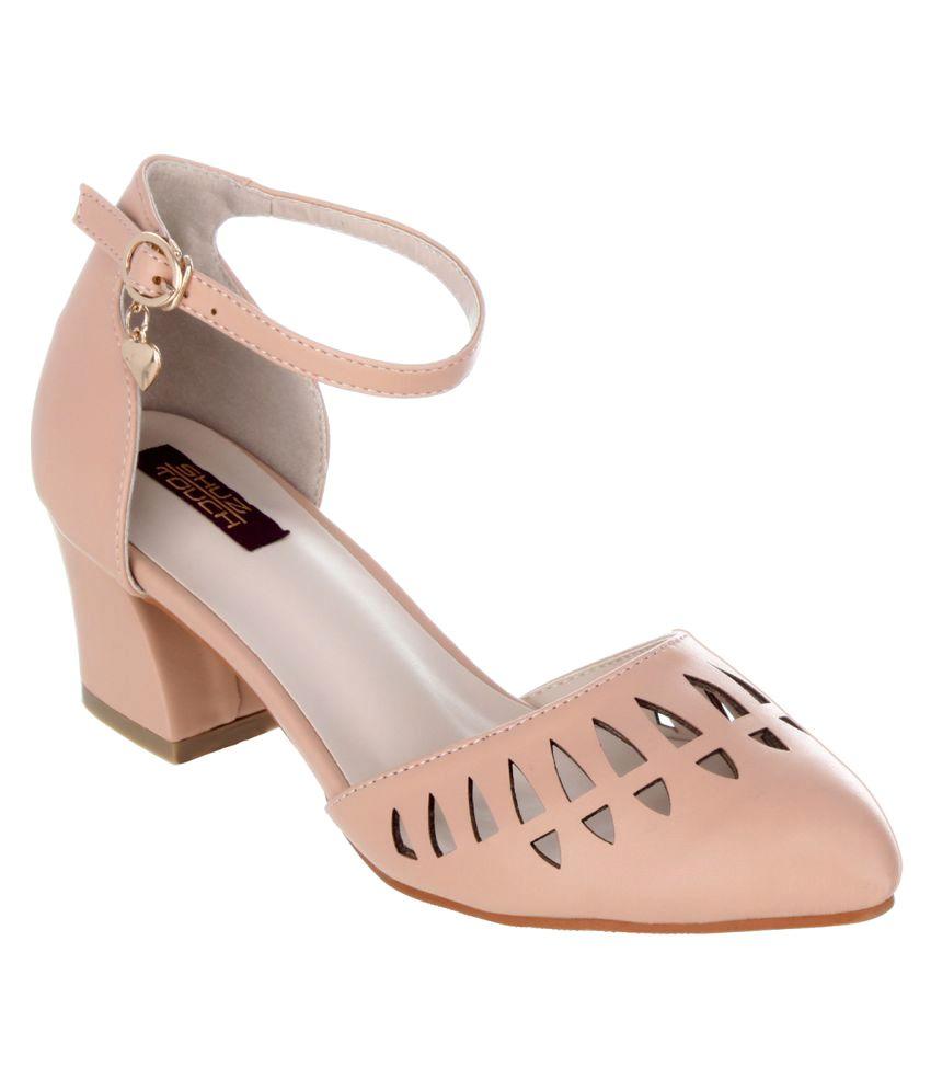 Shuz Touch Brown Block Heels