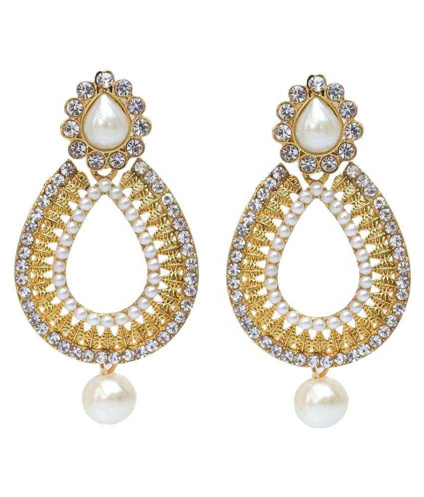 Lucky Jewellery Multicolour Partywear Drop Earrings