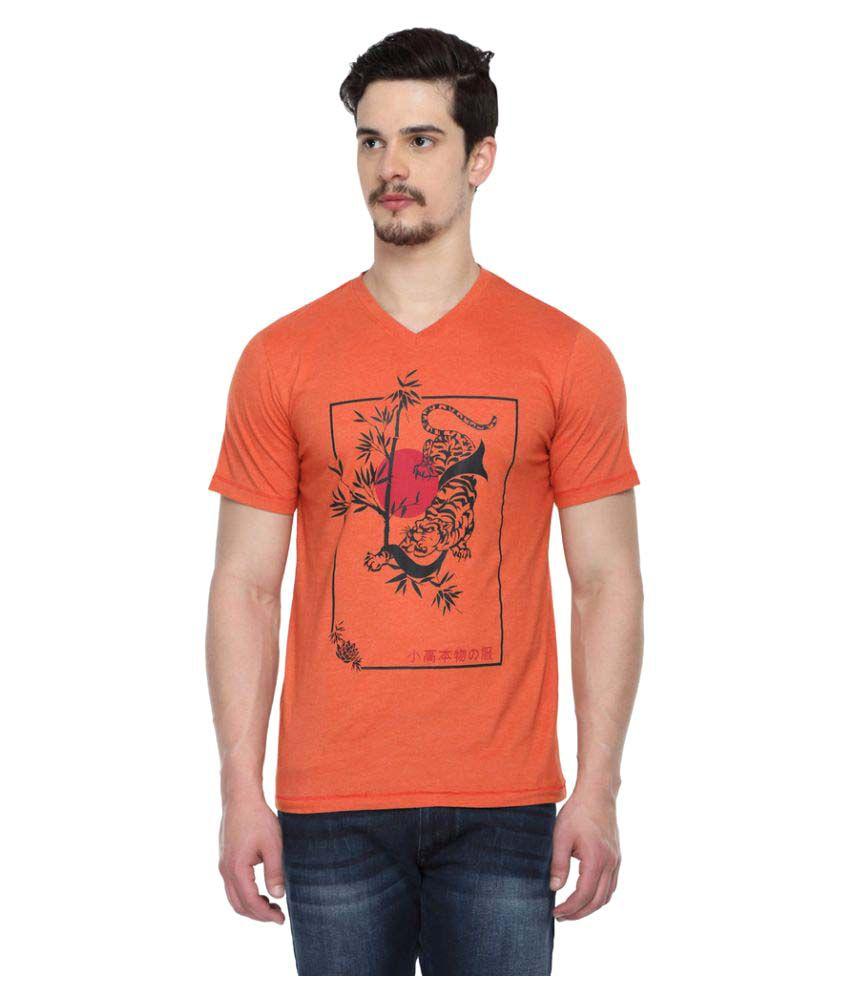 Odaka Orange V-Neck T-Shirt