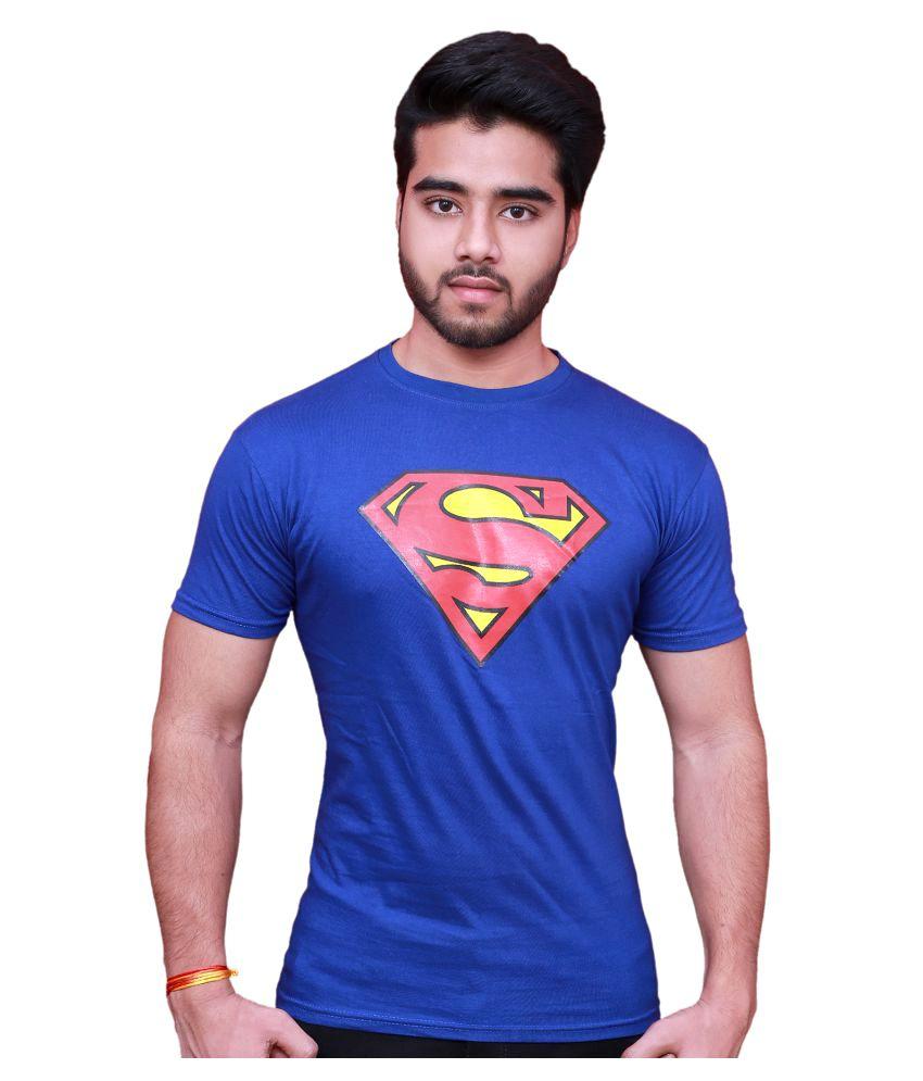Blu Blue Round T-Shirt