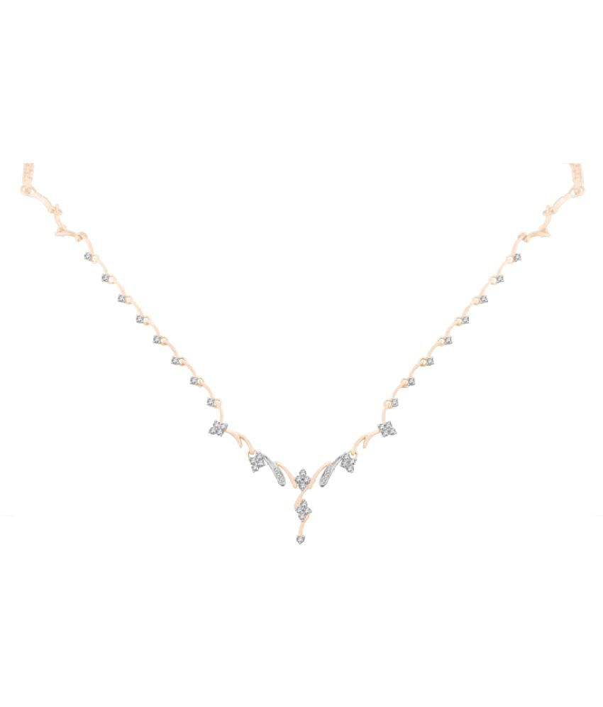 Sparkles 9K Rose Gold Necklace
