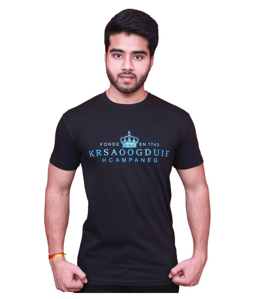 Blu Black Round T-Shirt