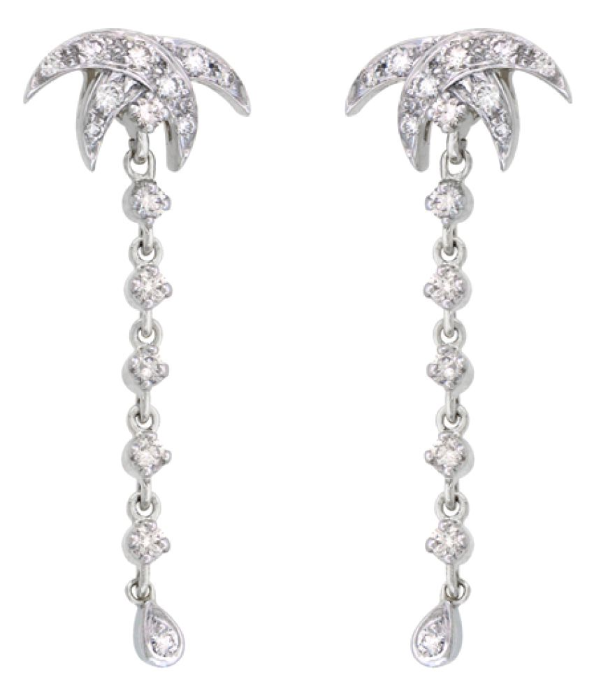 Sparkles 9K White Gold Diamond Hangings