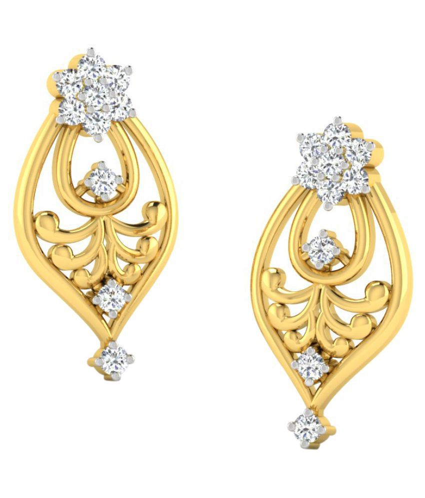 Sparkles 9K Yellow Gold Diamond Drop Earrings