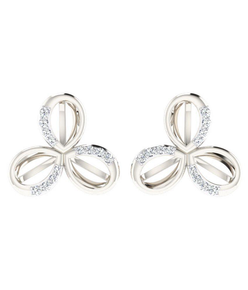 Sparkles 18K White Gold Diamond Studs