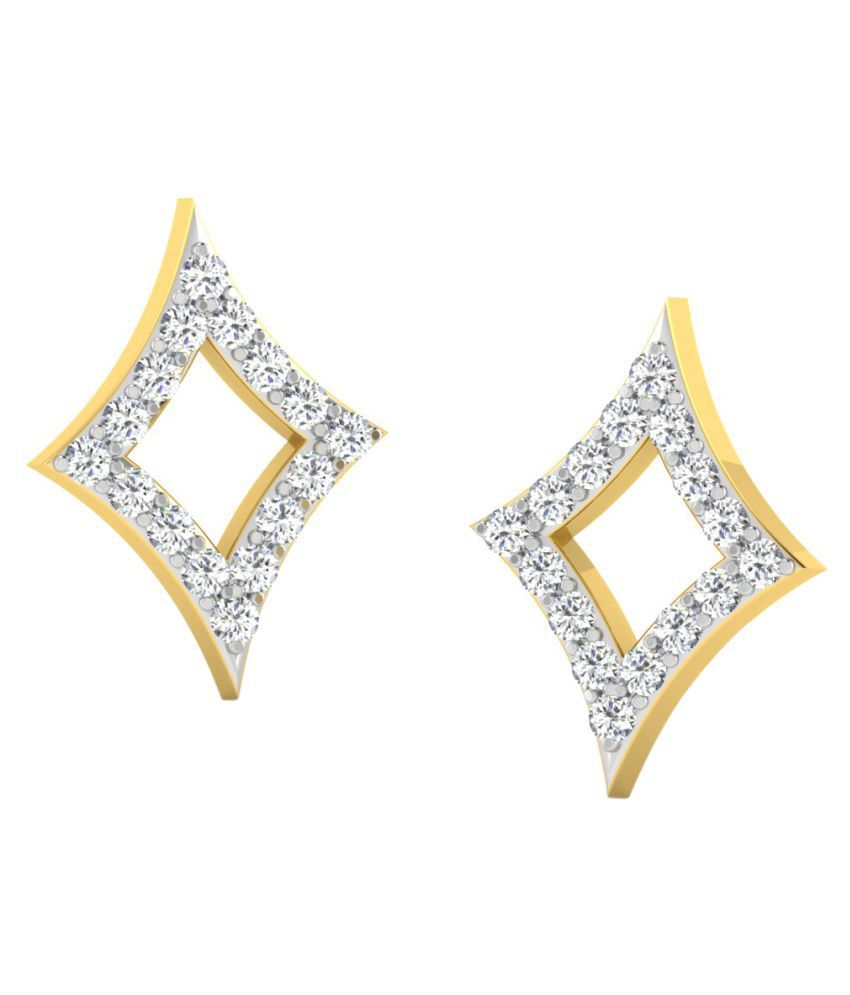Sparkles 18K Yellow Gold Diamond Studs