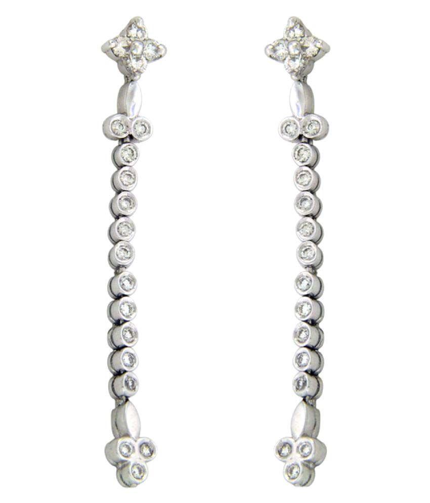 Sparkles 18K White Gold Diamond Hangings