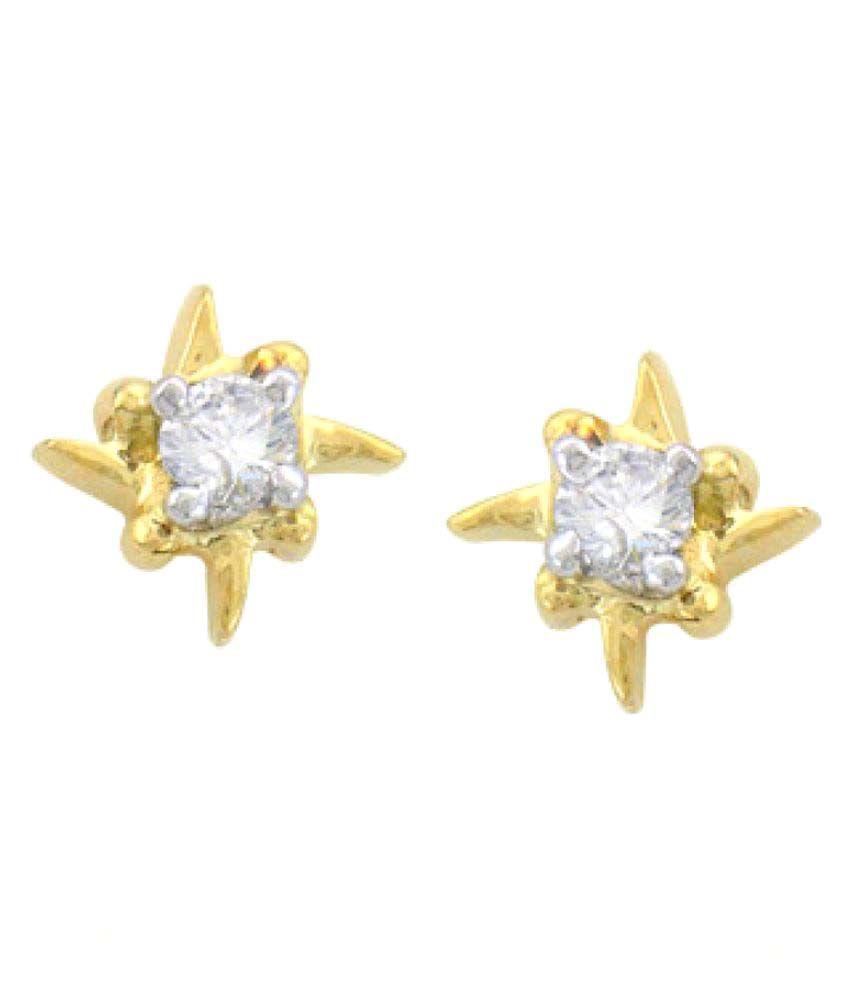 Sparkles 18K Yellow Gold Diamond Studs